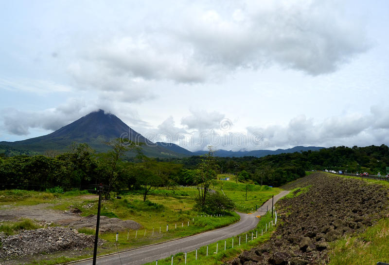 Arenal wulkanu krajobraz obraz royalty free