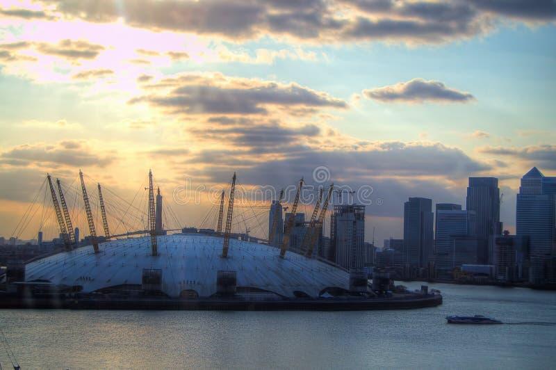 Arenan O2 i Greenwich, London arkivfoto