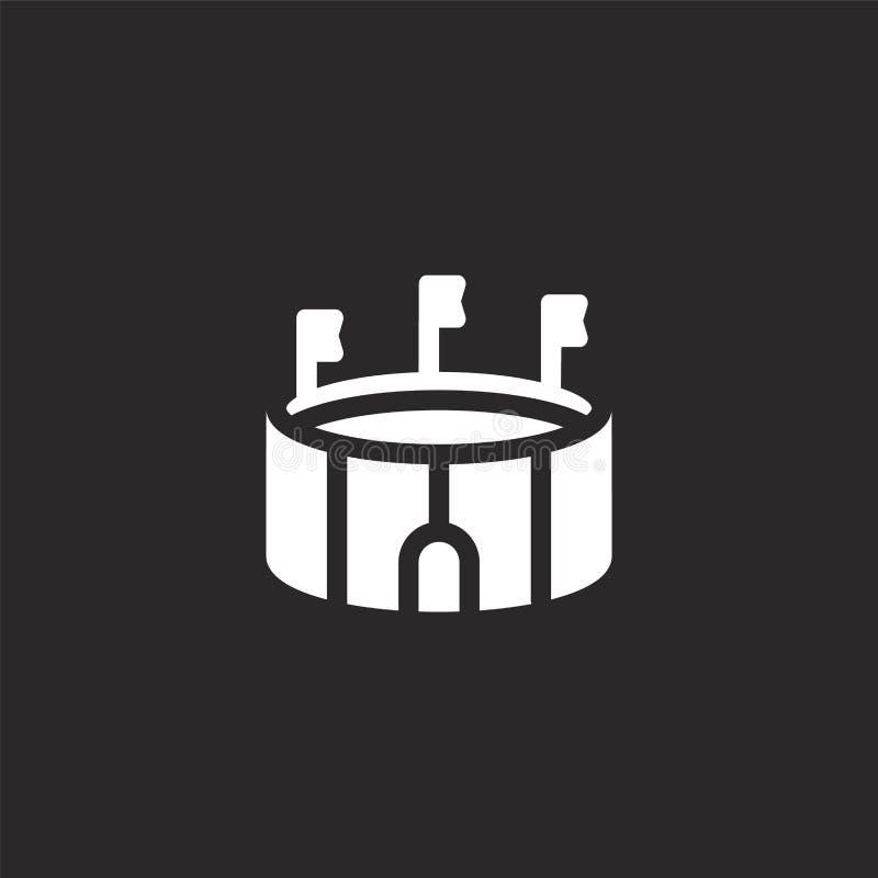 Arenapictogram Gevuld arenapictogram voor websiteontwerp en mobiel, app ontwikkeling arenapictogram van gevulde stedelijke de bou stock illustratie