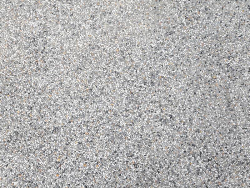 Arenaria del lavaggio o modello della pavimentazione di terrazzo e colorare superficie grigia di marmo per l'orizzontale di immag fotografie stock