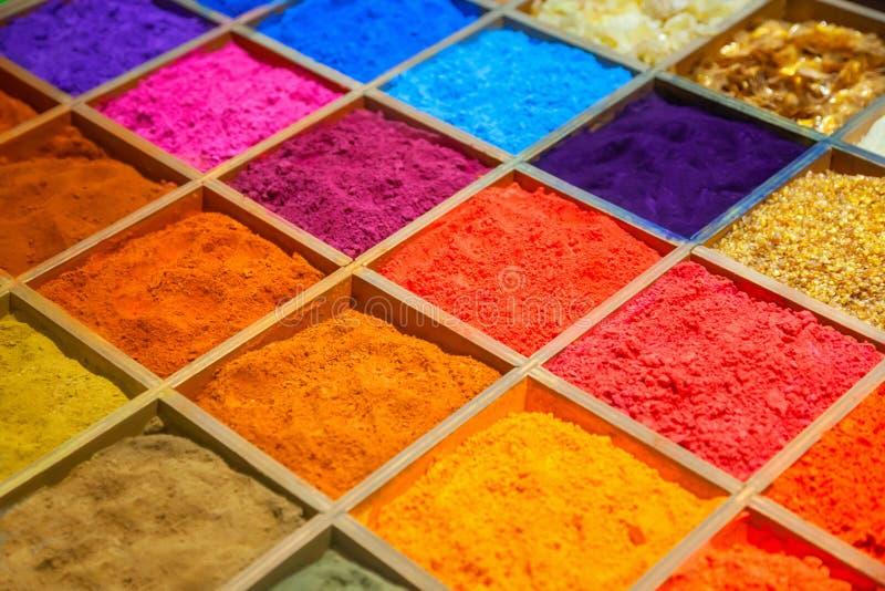 Arenas coloridas fotos de archivo