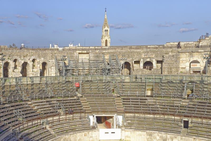 Arenas de Nimes, anfiteatro romano foto de stock