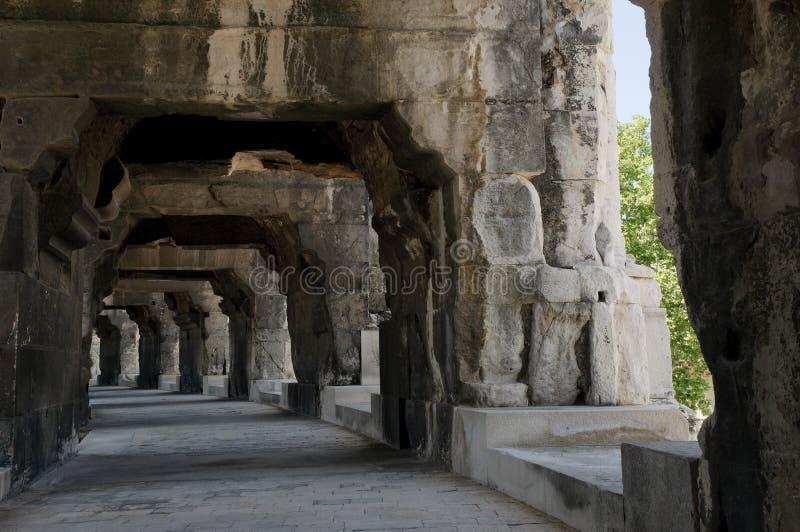 Arenas de Nimes, anfiteatro romano en Nimes imagenes de archivo