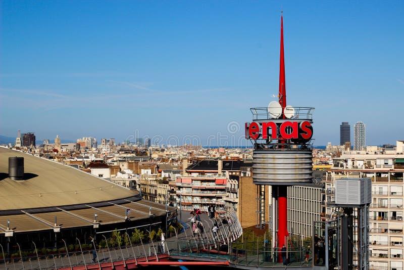 Arenas mall Barcelona royalty free stock photo