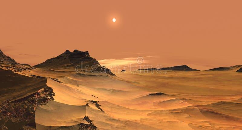 Arenas rojas de Marte stock de ilustración