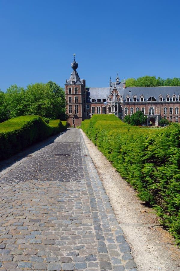 arenberghBelgien chateau arkivfoto