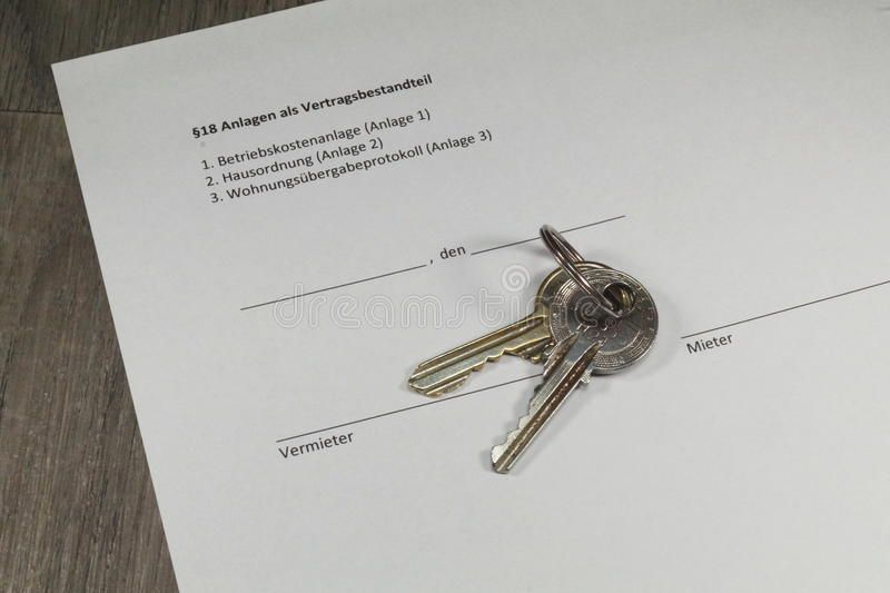 Arendowy kontrakt obrazy royalty free