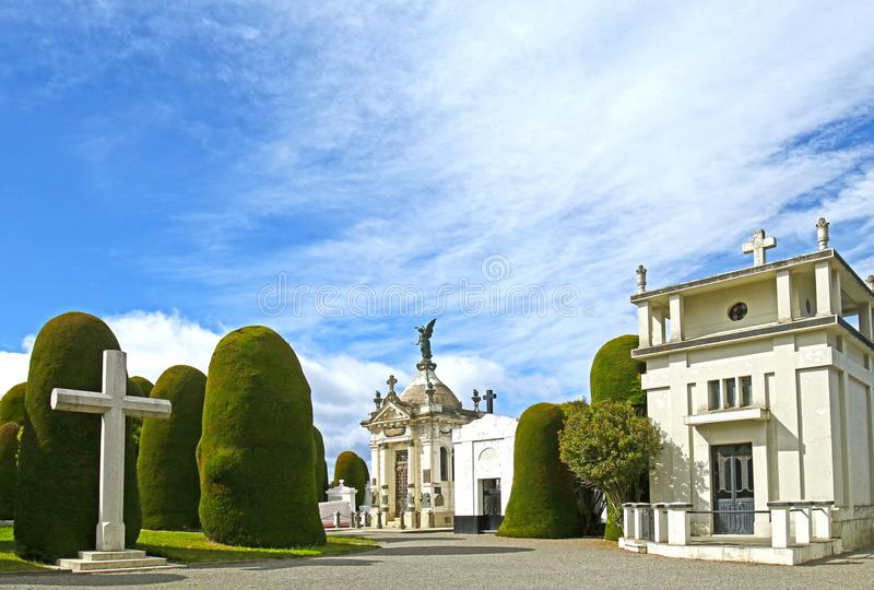 Arene di Punta, Cile 22 dicembre 2017 Scene al cimitero di Punta Arenas, un cimitero pubblico della città di Punta Arenas, Cile immagine stock