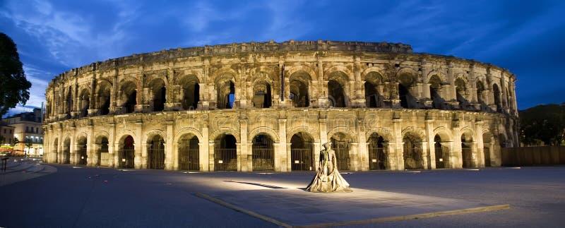 Arenes van Nîmes stock afbeeldingen