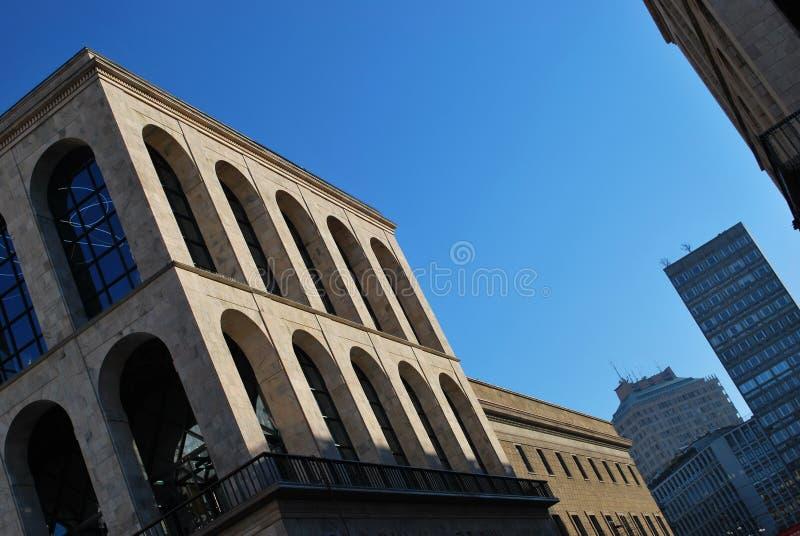 Arengario Palace, Milan royalty free stock photography