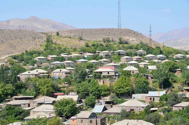 Areni village in Armenia royalty free stock photography
