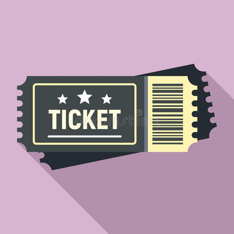 Areny biletowa ikona, mieszkanie styl royalty ilustracja