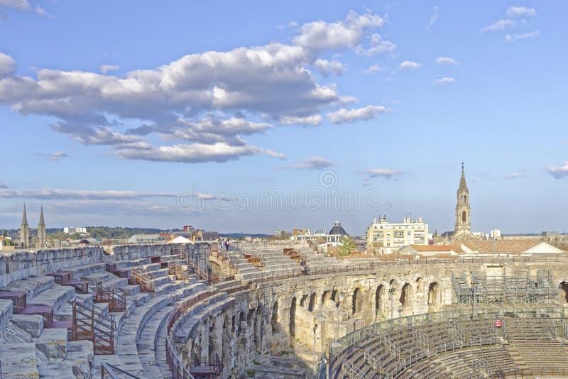 Areny Nimes, Romański amfiteatr zdjęcie royalty free