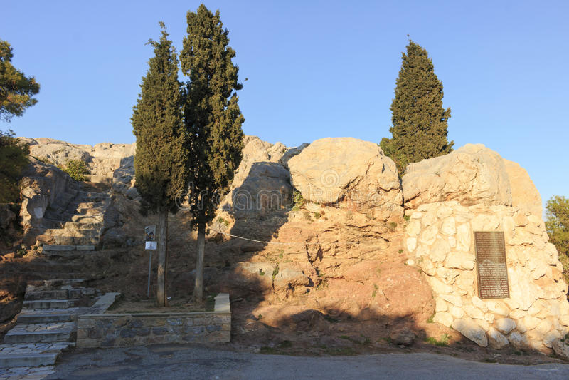 Areopagus royaltyfria bilder