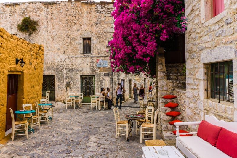Areopoli, het traditionele dorp van Mani in de Peloponnesus Griekenland royalty-vrije stock afbeeldingen