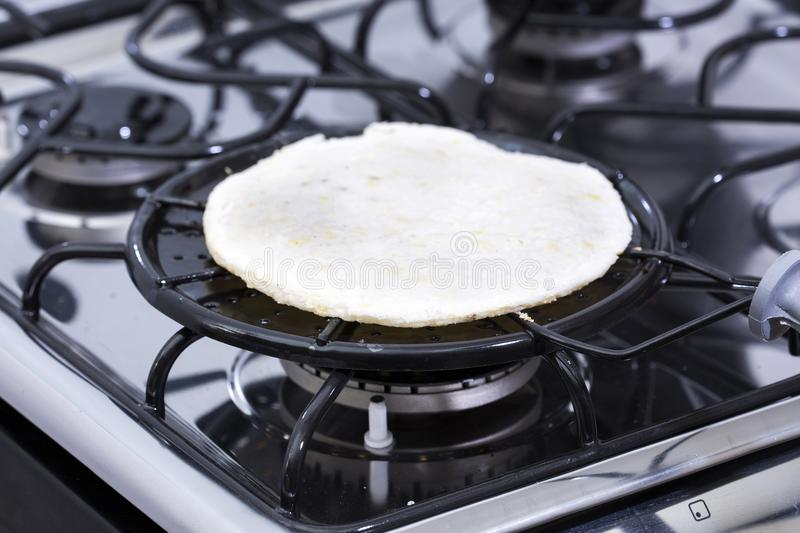 Arepa traditional Colombian food - Breakfast. stock photography