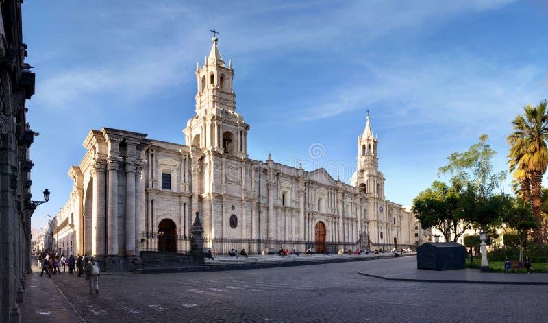 Arequipa, взгляд собора, южное Перу стоковые фото