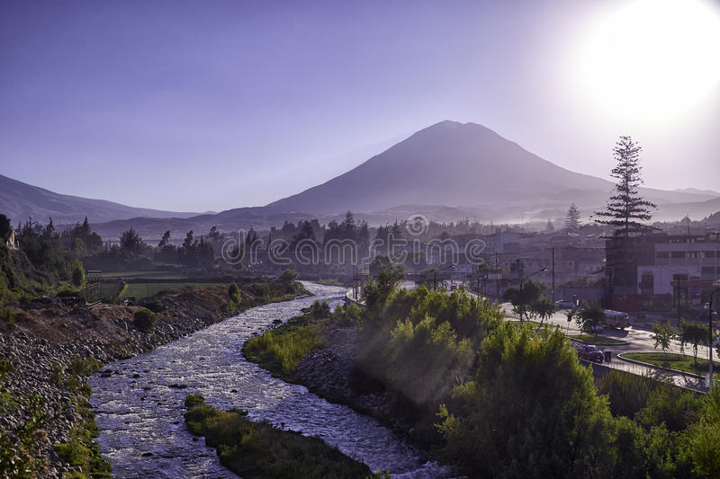 Arequipa, architectural monuments stock image