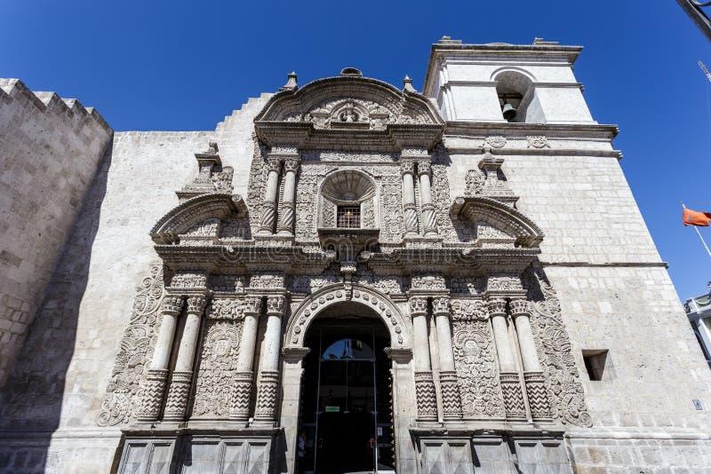 Arequipa, compagina de dela d'Iglesia, église de la société, Pérou photo stock