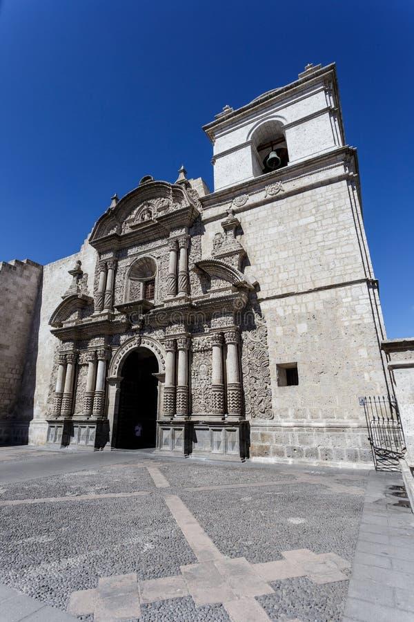 Arequipa, Iglesia-dela compagina, Kirche der Firma, Peru stockfotografie