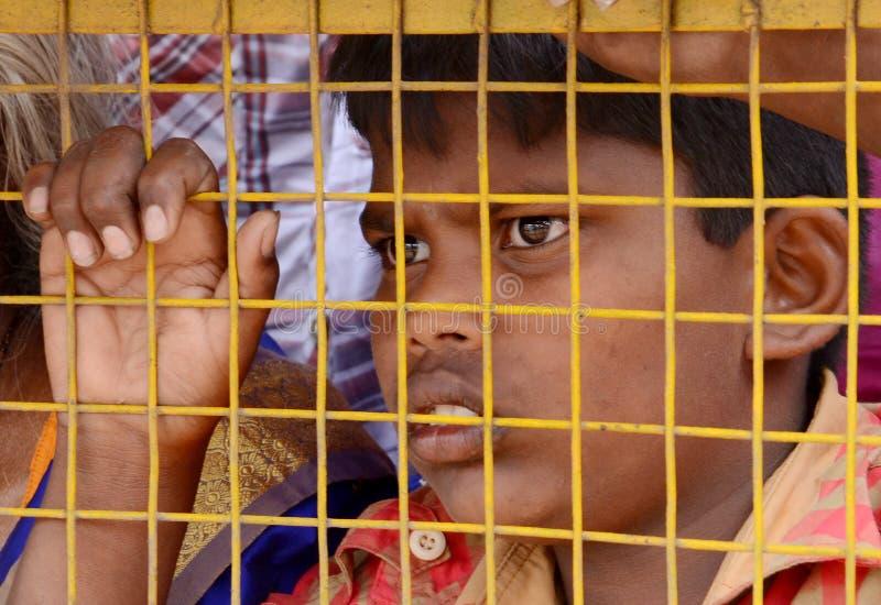 ARESSTED dziecka protestujący fotografia royalty free