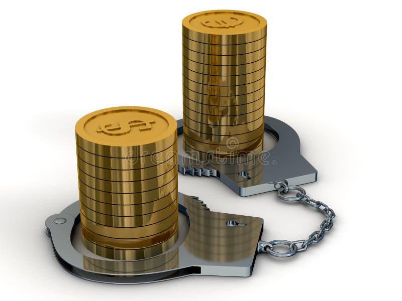 areszta pieniądze royalty ilustracja