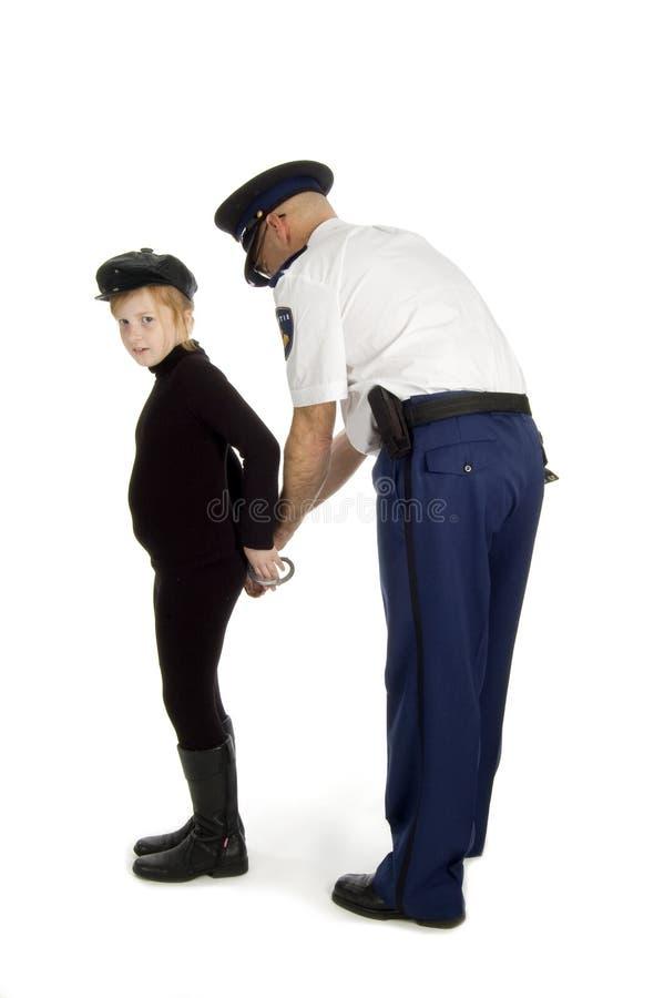 aresztujący być nieletni obraz stock