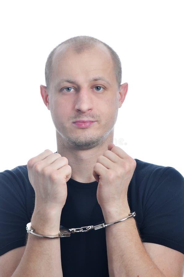Aresztujący młodzi człowiecy fotografia stock