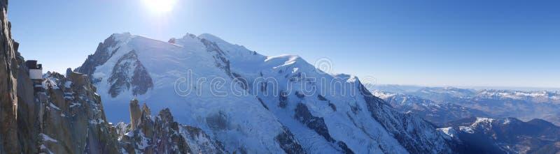 Arete do cosmique do Monte Branco fotos de stock royalty free