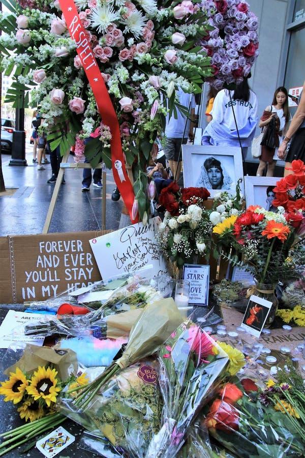 Aretha Franklin-gedenkteken stock afbeeldingen