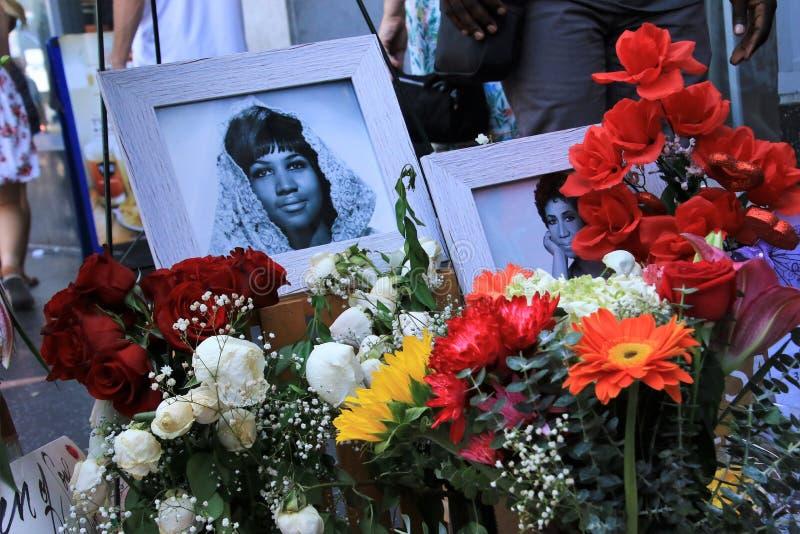 Aretha Franklin-gedenkteken royalty-vrije stock foto