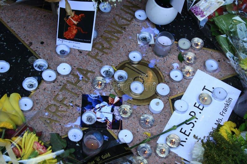 Aretha Franklin-gedenkteken royalty-vrije stock fotografie