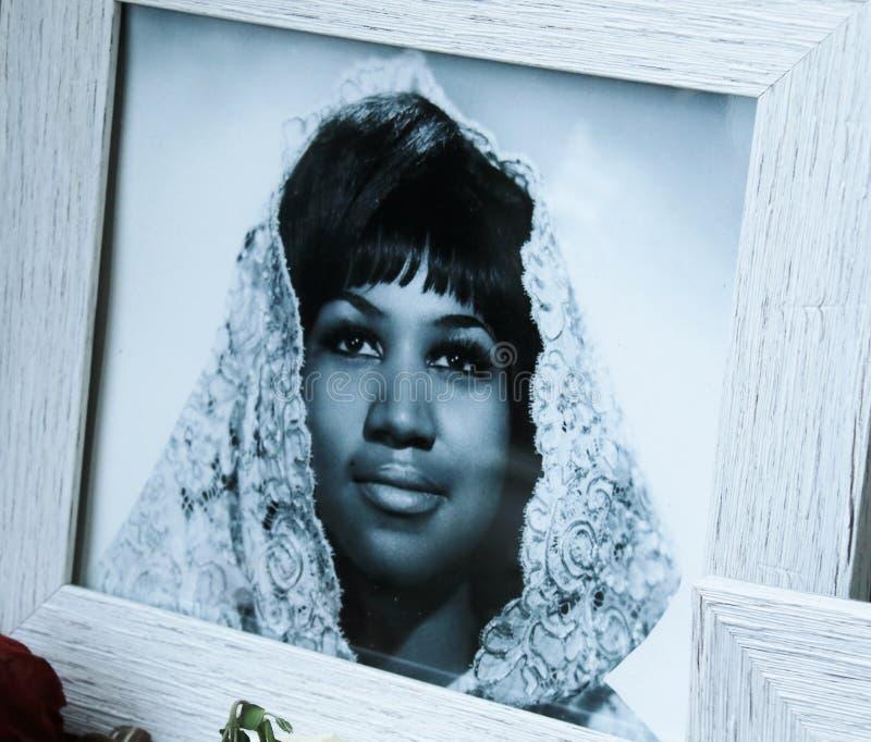 Aretha Franklin-gedenkteken stock afbeelding
