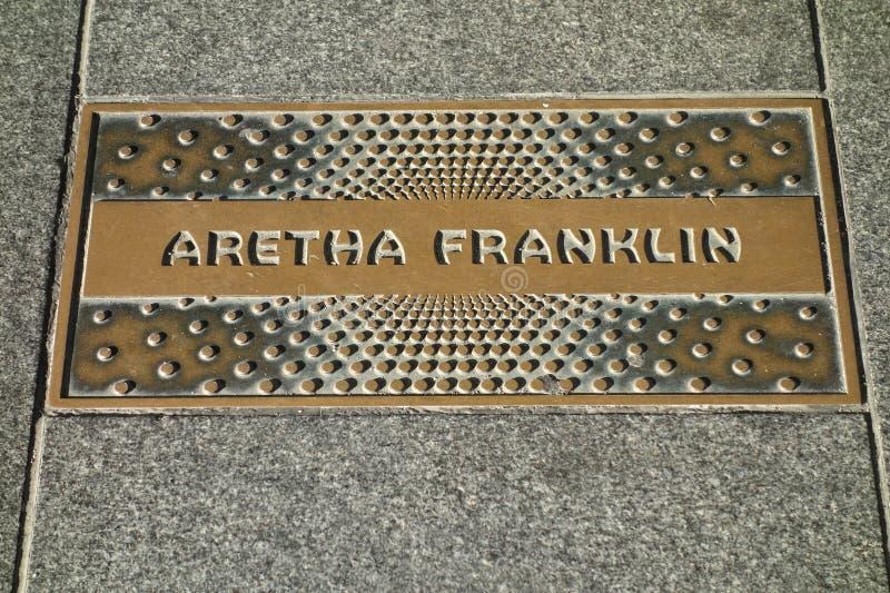 Aretha Franklin Plaque stock fotografie