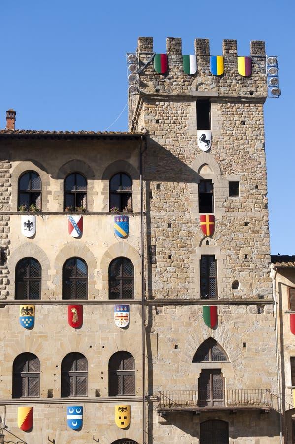 arezzo budynki Italy średniowieczny Tuscany zdjęcie royalty free