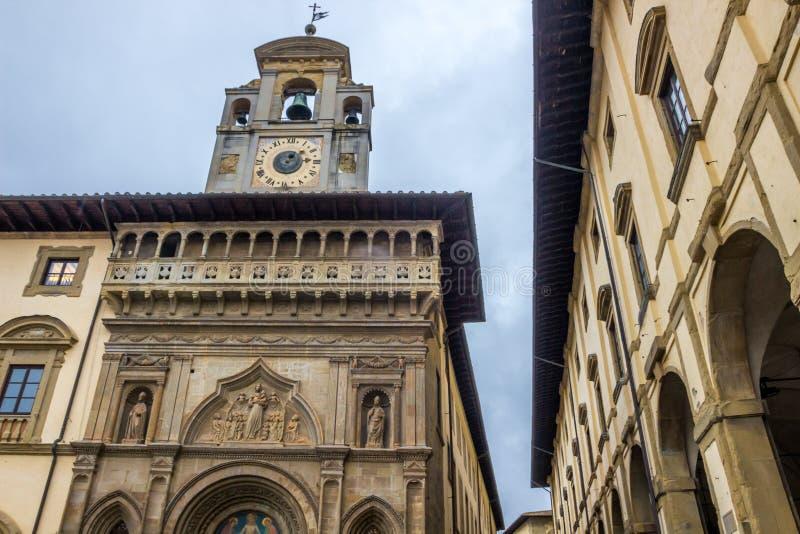 Arezzo dans le chianti en Toscane photos stock