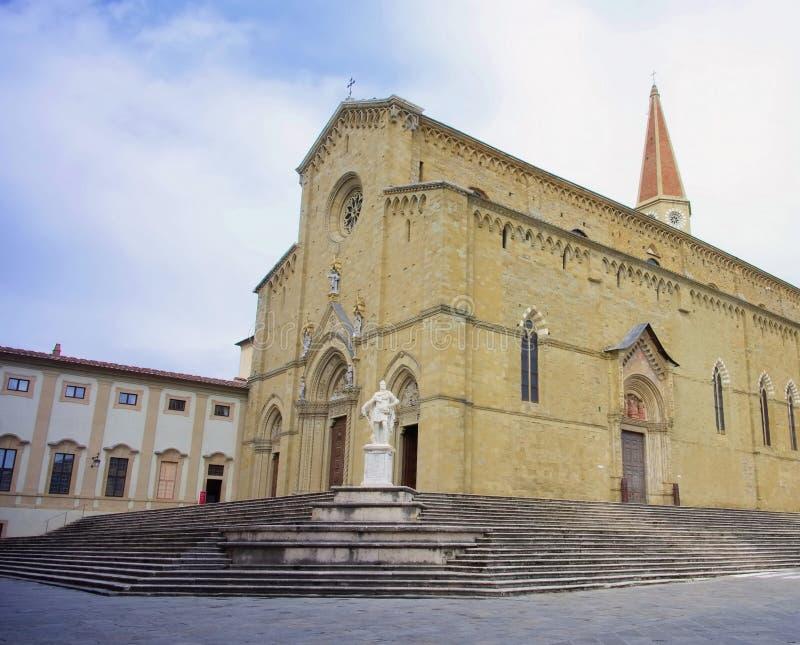 Arezzo katedra fotografia royalty free