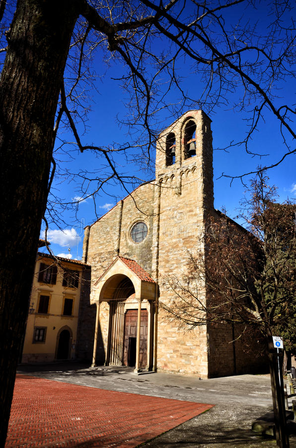 Arezzo, medieval town in Tuscany, Italy stock images