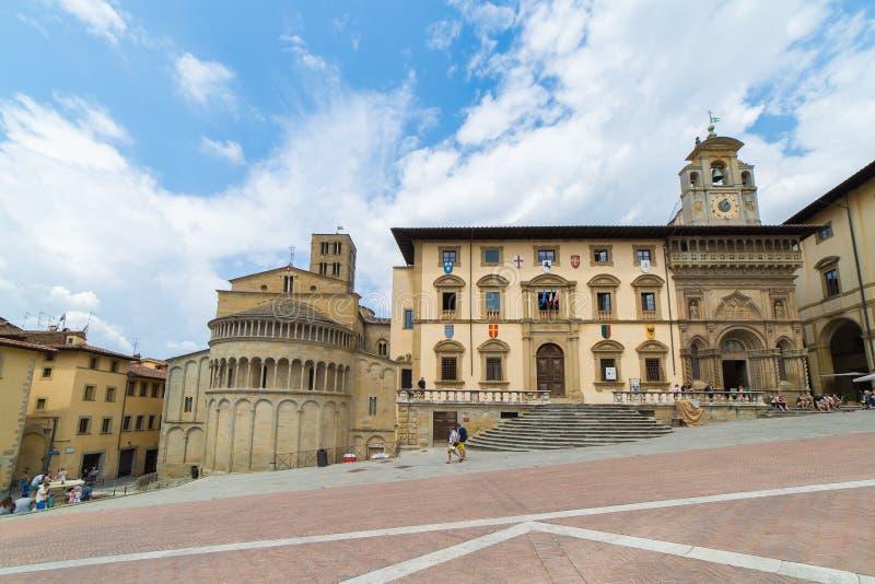 Arezzo Piazza grand images libres de droits