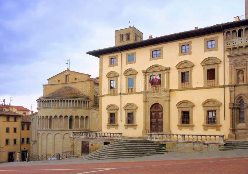 Arezzo Piazza Grande lizenzfreies stockfoto