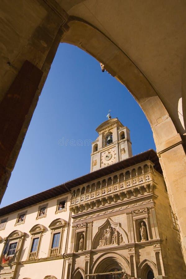 Arezzo Toscanië, Piazza Grande royalty-vrije stock foto