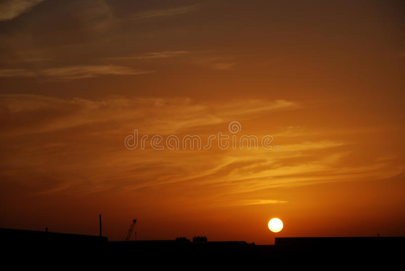 Download Arfternoon clouds stock photo. Image of orange, clouds - 54036346