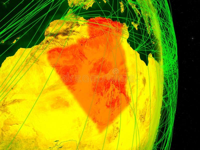 Argélia na terra digital ilustração stock