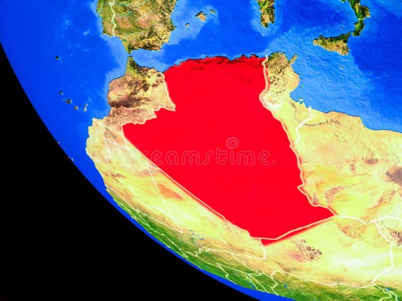 Argélia na terra do espaço ilustração royalty free