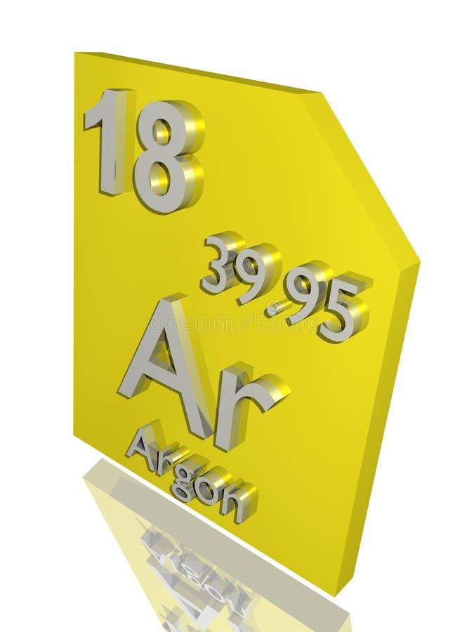 Argônio ilustração stock