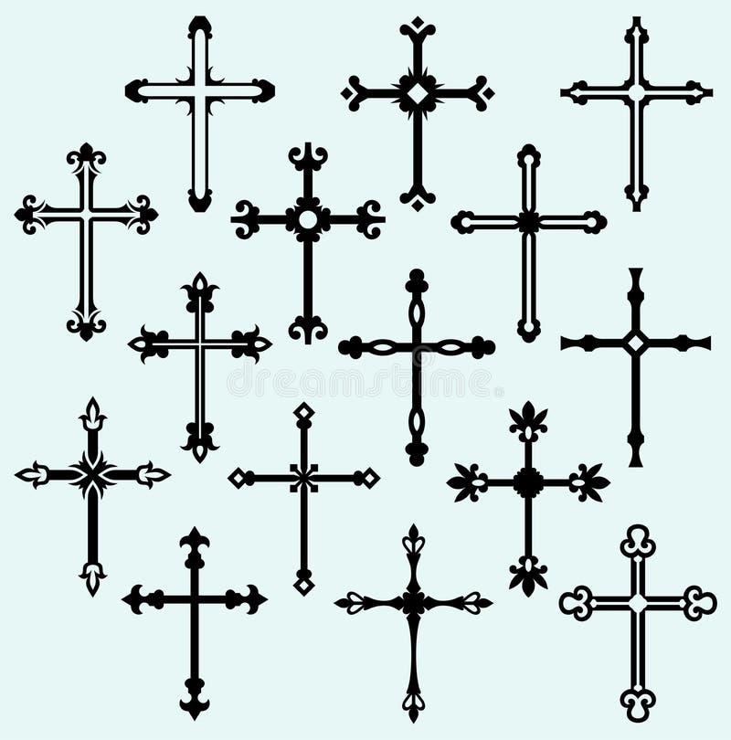 Arg designsamling för klosterbroder royaltyfri illustrationer