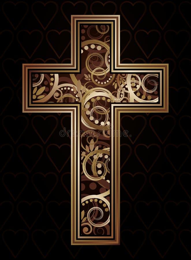 Arg kristen vektor illustrationer