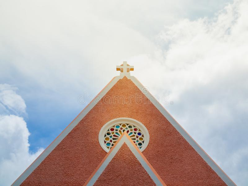 Arg kyrka royaltyfria foton