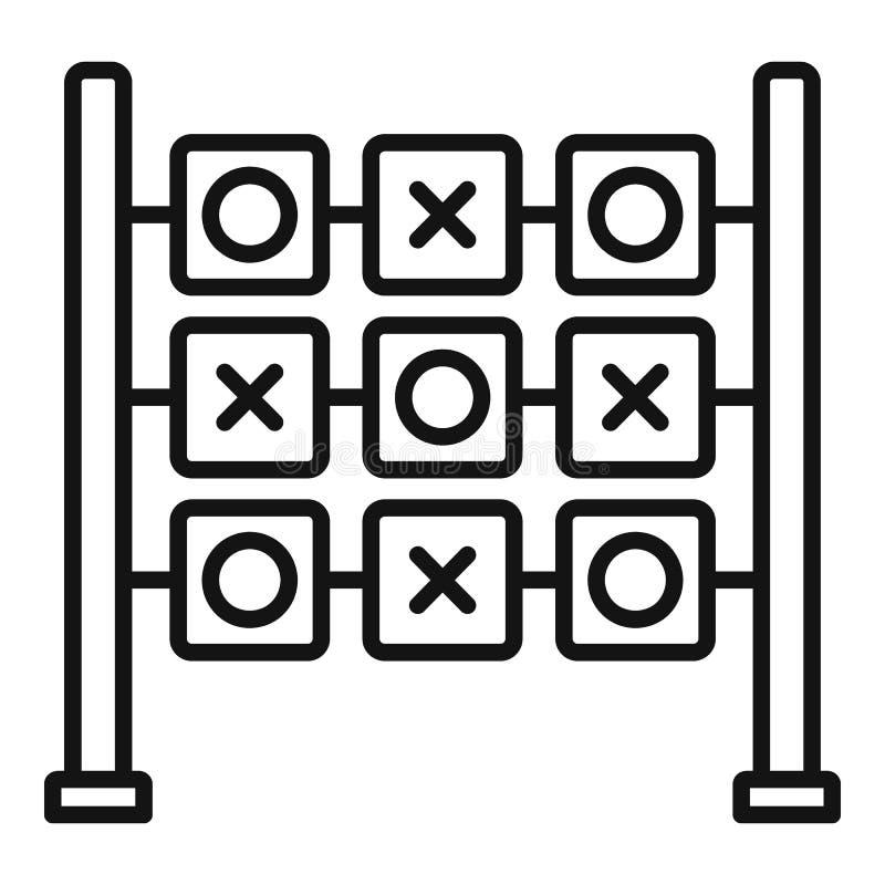Arg modig symbol för cirkel, översiktsstil vektor illustrationer