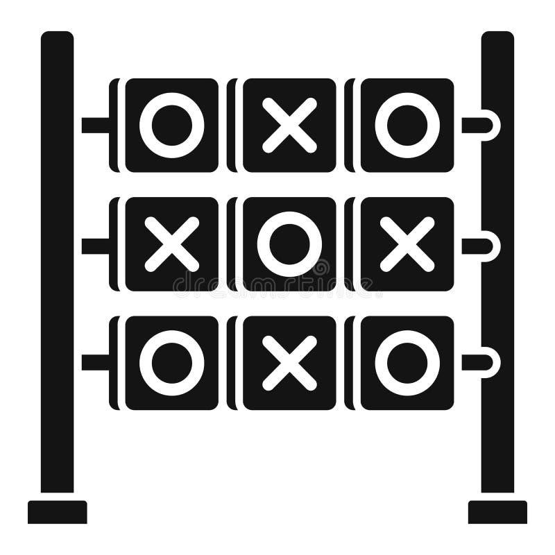 Arg modig symbol för cirkel, enkel stil royaltyfri illustrationer